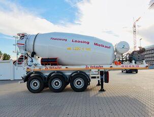 sơ mi rơ mooc trộn bê tông SCHWARZMÜLLER TTC-Fulda Betonmischer Auflieger mit Motor  NEU