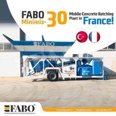 trạm trộn bê tông FABO MINIMIX-30M3/H MINI CENTRALE A BETON MOBILE mới